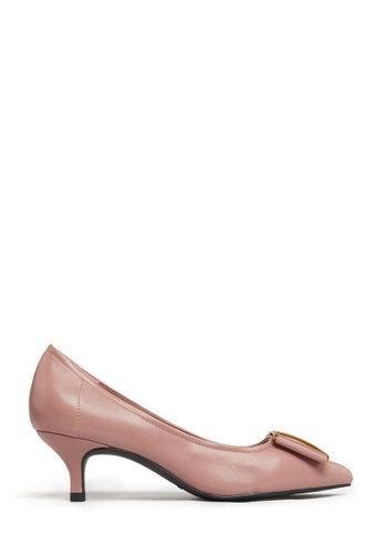 PAZZION pink Bow Pumps CED31SH25ABBC4GS_1