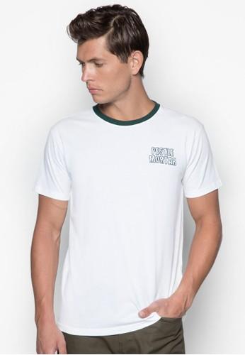撞色圓領TEE,esprit hk 服飾, T恤