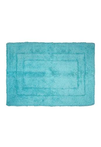 Charles Millen turquoise SET OF 2 Charles Millen Suite Collection 100 % Super Soft Cotton BS - 115 Classique Tufted Rug / 45 x 65cm/ 455g. 0D778HL5DA28AEGS_1
