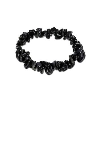 Glamorousky black Fashion Creative Irregular Natural Obsidian Bracelet 54E38AC122281FGS_1