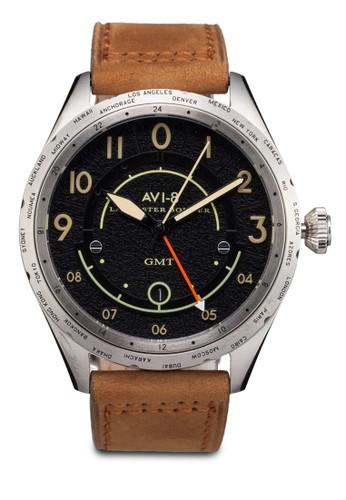 Lancasteesprit服飾r Bomber 皮革手錶, 錶類, 休閒型