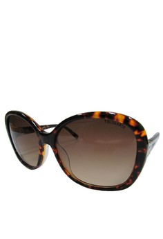 9faa54e6c09a Trussardi brown Trusssardi Butterfly Sunglass - 12849 - 56 - Dark Brown  8038CGLBD0297AGS 1