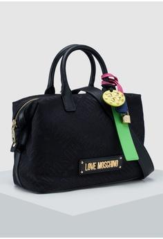 992e88d9e0ba Love Moschino Dark Jacquard Top-Handle Bag S  369.00. Sizes One Size