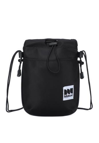 Milliot & Co. black Bertram Sling Bags BEC7EACE678FCCGS_1