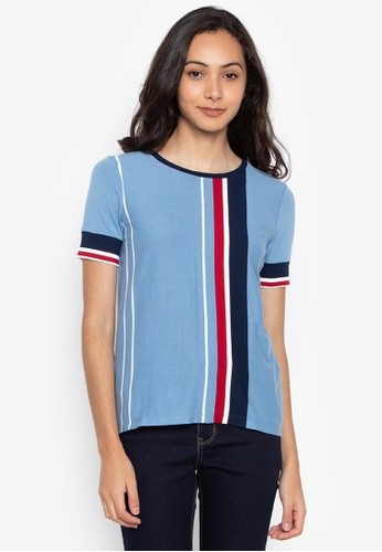 f1835aab1f0fb Shop Blued Ladies Vertical Striped Top Online on ZALORA Philippines