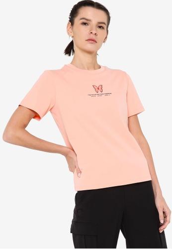 361° pink Sports Life Short Sleeve T-Shirt 54090AA6DB8C53GS_1