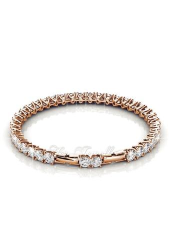 Her Jewellery gold Swarovski® Crystals - Venus Bracelet (Rose Gold)(18K Rose Gold Plated) Her Jewellery HE581AC0R9W6MY_1