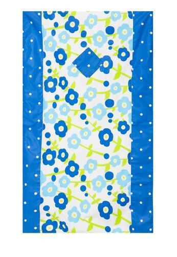 Aira Muslim Butik white and blue Travelling Sajadah Flowery AI892AA98CTPID_1