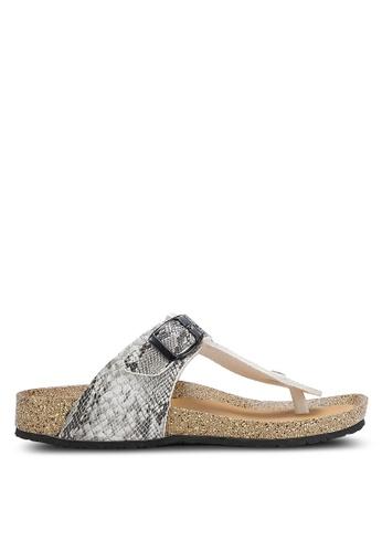 Bata 灰色 Slip On Sandals BA156SH0RCV0MY_1
