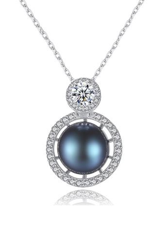 A.Excellence black Premium Black Pearl Elegant Necklace BEB0FACD1F5E30GS_1