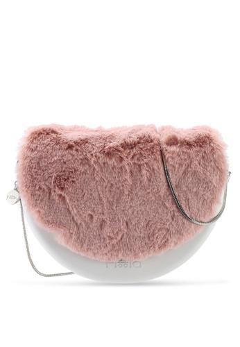Hoola Hoola white Chiara Saddle - Eggshell White  Pink Fur & Snake Chain 83812AC91F41F9GS_1
