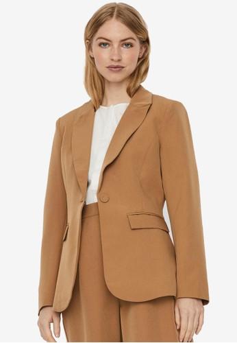Vero Moda beige Long Sleeved Blazer C1951AA1B7A3CEGS_1