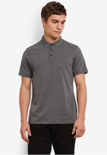 Burton Menswear London 灰色 Stretch Polo Shirt BU964AA0S7F3MY_1