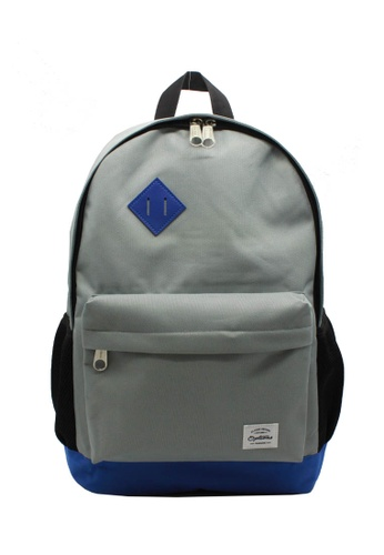 OPTIONS grey and blue and multi Options Classic Day Backpack A4DA8AC01950BCGS_1