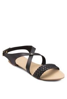 Lynn Braided Criss Cross Sandals
