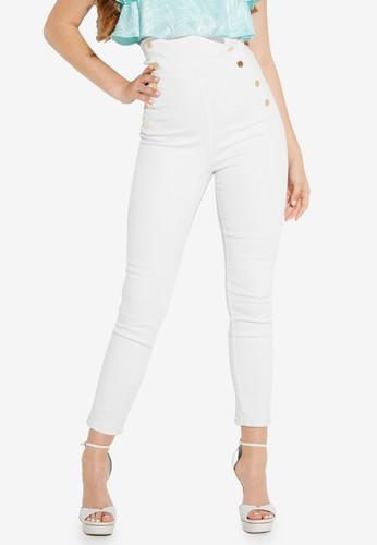 GUESS white Jennifer Lopez x Guess Gwen Super High Rise Corset Jeans 885C2AA789A09AGS_1