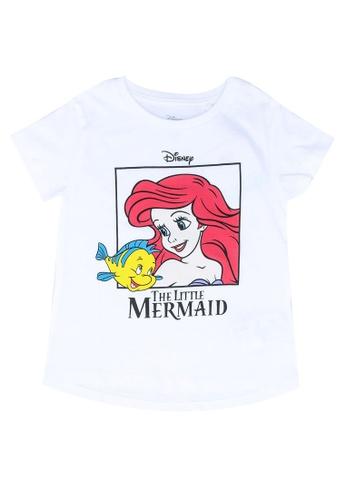 FOX Kids & Baby white Baby Girls Little Mermaid Print Tee 82B96KAB00A33AGS_1