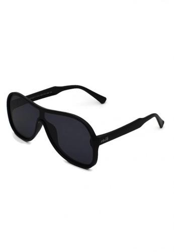 jojo black Oversized Shield Aviator Polarized Sunglasses 4E7B5KC0C43586GS_1