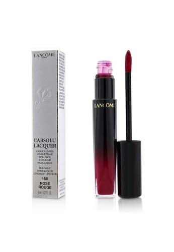 Lancome LANCOME - L'Absolu Lacquer Buildable Shine & Color Longwear Lip Color - # 168 Rose Rouge 8ml/0.27oz B5FCDBEEDCE4E9GS_1
