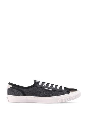 SUPERDRY black Low Pro Luxe Sneaker 5FB6FSHB28C09CGS_1