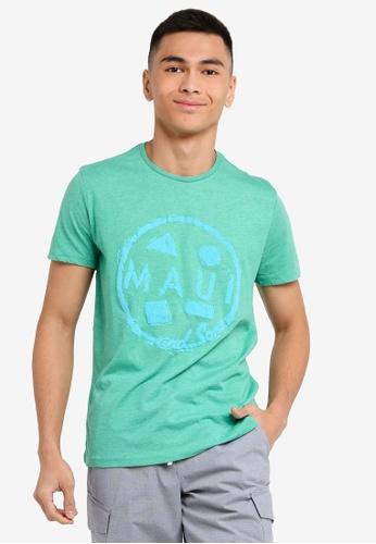 OVS 綠色 Men's MAUI 短袖T恤 7B6C8AA8F1EB79GS_1