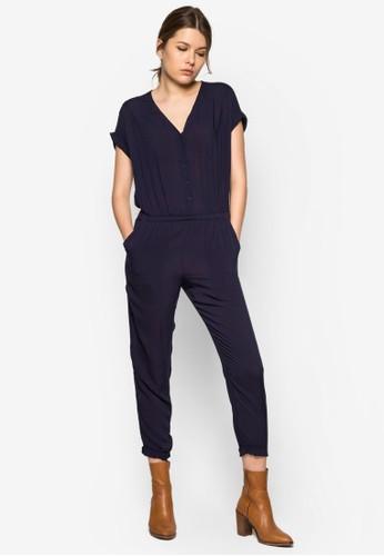 Flowy Lzalora時尚購物網評價ong Jumpsuit, 服飾, 連身褲
