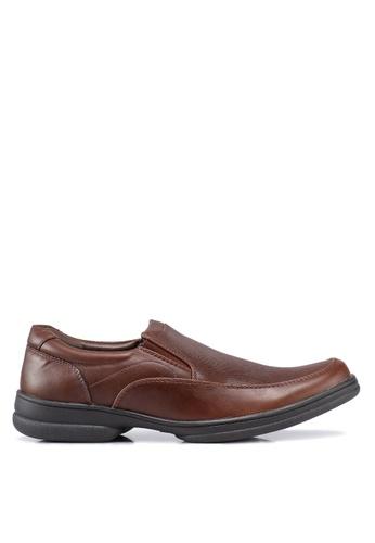 Bata brown Textured Dress Shoes 2197ASHE351E6CGS_1