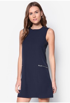 Collection Zip Detail A-Line Dress