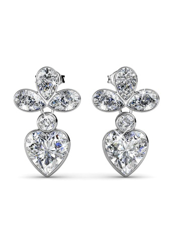 Her Jewellery silver Wisteria Earrings -  Made with premium grade crystals from Austria HE210AC0G00USG_1