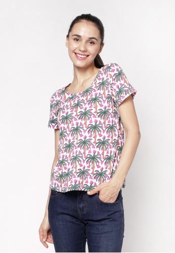 Eighteen Plus multi Round Neckline Striped T-Shirt B352EAAB3EB271GS_1
