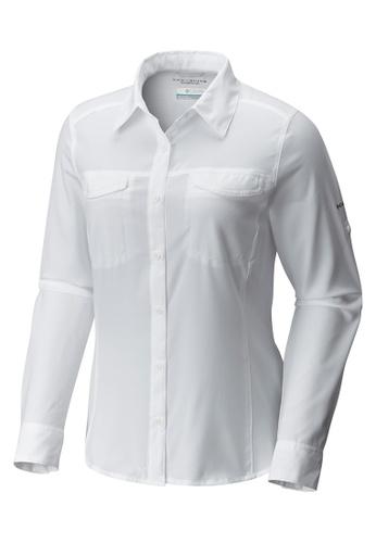 Columbia white Women's Silver Ridge Lite Long Sleeve Shirt F0195AAFE9C8E6GS_1