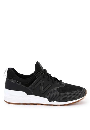 New Balance black 574 Sport 9F8A3SHF703BB3GS_1