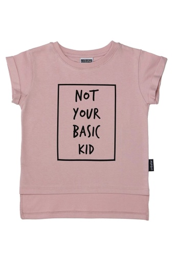Ribbons+Wheels pink Cribstar Not Your Basic Kid T-shirt - Dusty Pink 74455KAF233F5BGS_1