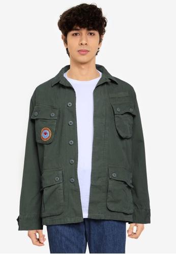 Superdry 綠色 熱帶Combat 外套 - Original & Vintage A4CD0AA8FD29E7GS_1