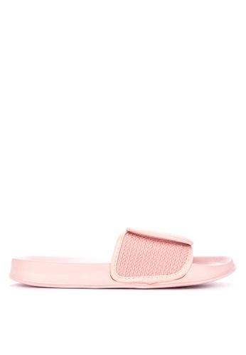 Penshoppe pink Textured Knit Sliders FB46ASH580B65FGS_1