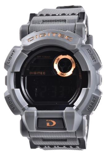 Digitec grey Digitec - Jam Tangan Pria - Grey - Resin Strap - DG2079-E