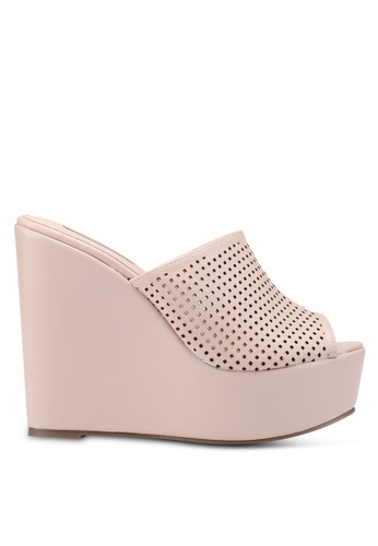 Nose 米褐色 Casual Wedge Heel Slides 16572SH7144DBFGS_1