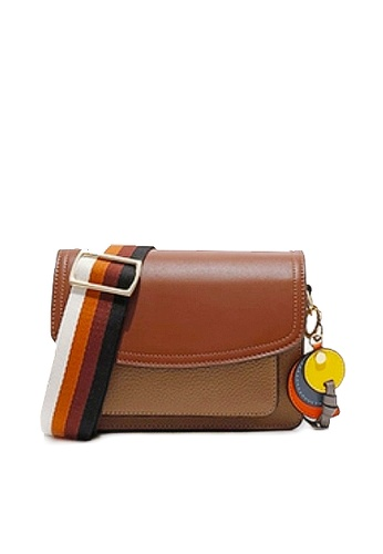 Twenty Eight Shoes brown VANSA Top Layer Cowhide Crossbody Bag VBW-Cb3011 D1EF1ACCC133D7GS_1