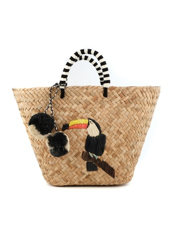 Style Cat beige Style Cat Ipanema Woven Basket with Pompom 03B6EACF32FE3AGS_1