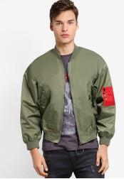 Flesh IMP green Dual Oversized Jacket FL064AA78NYNMY_1