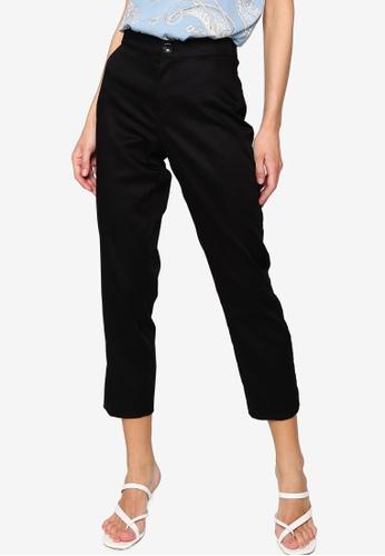 LC WAIKIKI black Ankle-length Satin Pants 3629EAAE7591BEGS_1