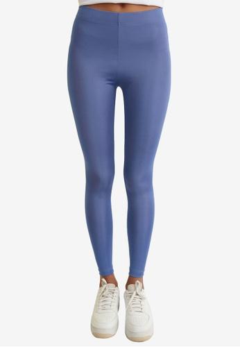 Trendyol blue Basic Shiny Disco Leggings DFBBCAA9E1EAE8GS_1