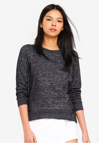 6IXTY8IGHT grey Supersoft Brushed Jersey Sweatshirt EBF80AA5FAE4A8GS_1