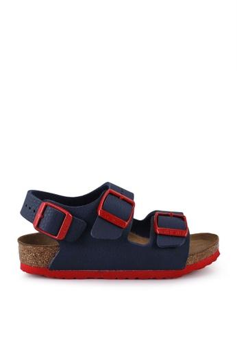 Birkenstock blue Milano Kids BF Desert Soil Sandals 1282EKS387CD60GS_1