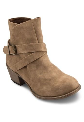 Lzalora鞋子評價ouise 扣環雙帶短靴, 女鞋, 靴子
