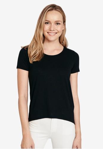 LC Waikiki black Straight Viscose T-Shirt 2FFB7AA52EB650GS_1