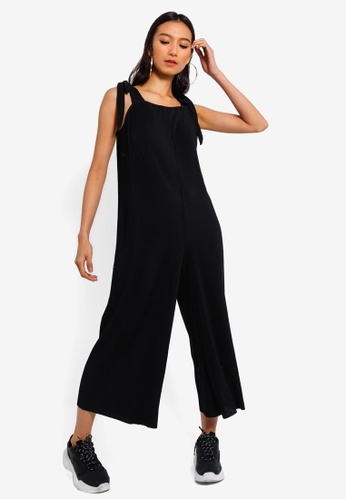 940f6433365 Buy TOPSHOP Plisse Tie Jumpsuit Online on ZALORA Singapore