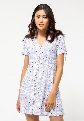 COLORBOX purple Rayon Mini Dress 57E07AA5535A0FGS_1