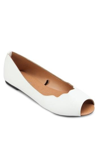 Pammy 露趾平底鞋, 女zalora 台灣鞋, 鞋