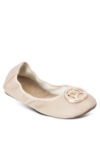 Florissa 扣環仿皮平底鞋, 女鞋,esprit地址 鞋